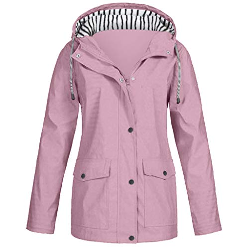 Zilosconcy Regenjacke Damen Wasserdicht Atmungsaktiv Regenmantel Outdoor Jacken mit Kapuze Sportjacke Winddicht Parka Coat Windbreaker für Wandern Fahrrad Radfahren Camping Reisen