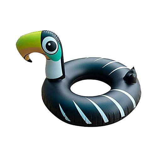 QKFON Flotador inflable de la piscina del Toucan de la playa y de la piscina del partido del juguete para más de 8 años de edad de los niños de color negro Toucan forma flotador 106x130x75 cm