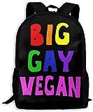 Mochila para Adultos Unisex de Alta Capacidad, Grande Gay, Vegano, Bolsa de Viaje, Mochila Escolar y portátil