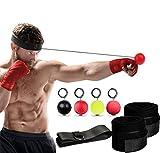 X-LIVE Boxen Training Ball Boxing Reflex Ball Boxballl mit Stirnband und Handschlaufe,3 Arten Reflex Kampf Ball-(Reaktionsgeschwindigkeit Erhöhen/Dekompression) -4 Balls