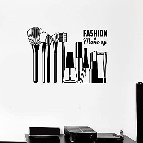 Stickers Muraux Maquillage Vinyle Salon De Beauté Cosmétiques Fille Chambre Décor À La Maison 29X42Cm