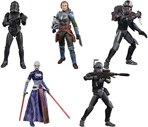 Star Wars The Black Series: Hunter, Crosshair, Asajj Ventress, Bo-Katan Kryze, Squad Trooper Figure Set