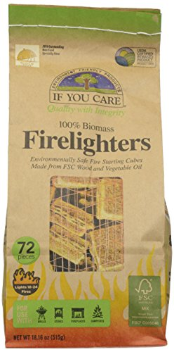 Affordable If You Care - Firelighters Wood Starting Cubes - 72 Piece(s)