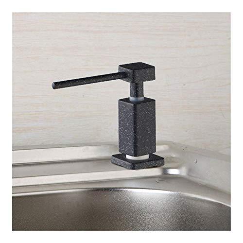 Nostalgie Pumpenkopf Kitchen Sink Schiff Seifenspender Badezimmer Dusche Deck montiert Distribuidor Seifenspender Ersatzpumpe (Color : Square Black Dot)