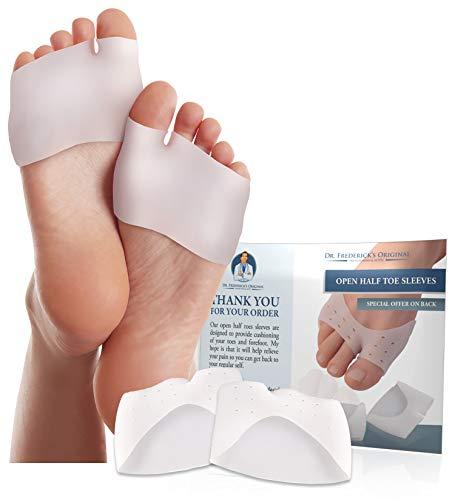 Dr. Frederick's Original Half Toe Sleeve Metatarsal Pads - Bunion & Forefoot Cushioning - ...