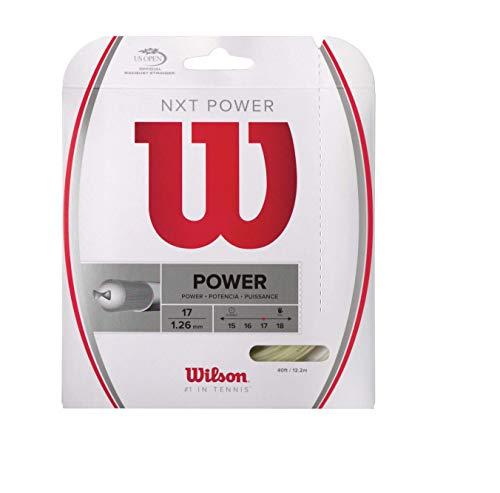 Wilson Unisex Tennissaite NXT Power, Natur, 12,2 Meter, 1,26 mm, WRZ941700