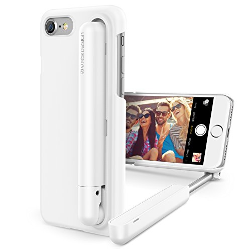 iPhone 7 Case, VRS Design [Cue Stick][Milky White] - [Wired Selfie Stick][Battery Free] for Apple iPhone 7 4.7
