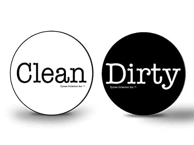 """New 3"""" WaterPROOF Double Sided Flip CLEAN & DIRTY Premium Dishwasher Magnet MADE in USA."""