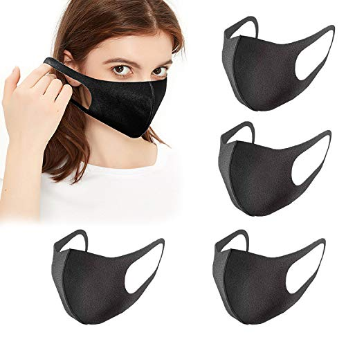 Unisex Cloth Carbon Fiber Face Cover 5 pack, Outdoor Anti Haze Face, Durable Breathable, Reusable/ Washable Dust Warm Outdoor Face