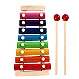 Xylophone for kids, Best Holiday/Birthday DIY Gift Idea for your Mini Musicians,Color Scissor Wooden Xylophone Toy with Child Safe Mallets, Educational Musical Instruments Toy for Toddlers Child