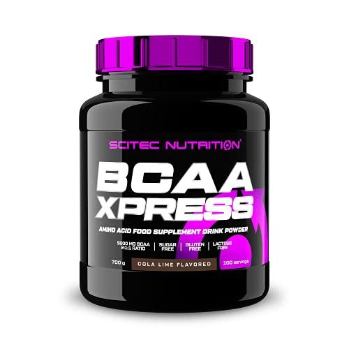 Scitec Nutrition BCAA Xpress, Napój zawierający niezbędne aminokwasy BCAA, bez cukru, bez glutenu, bez laktozy, 700 g, Cola-Limonka