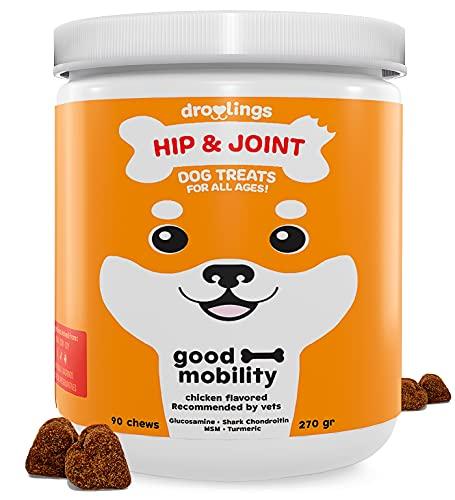 Droolings Condroprotector perros y antiinflamatorio - Suplemento natural para perros Con Glucosamina, Colágeno, Condroitina, MSM, Cúrcuma y Vitamina C