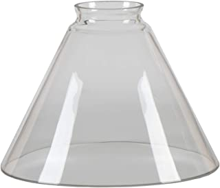 XIDING Funnel Shape Clear Glass Shade Cylinder Glass Shade Replacement Modern Elegant Style Highly Transparent Wall Sconces Shades Pendant Lighting Fixture Shade, Perfect DIY Accessories
