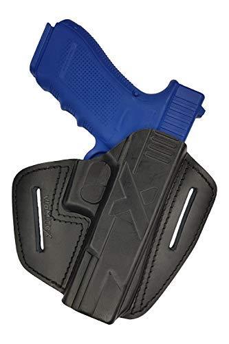 VlaMiTex U9 100% Leder IPSC/BDMP Schnellziehholster für Glock 17 19 20 21 22 23 25 31 32 37