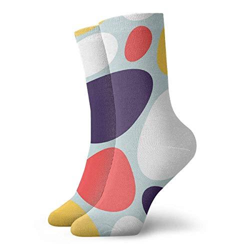 XCNGG Calcetines Geométricos abstractos Piedras decorativas Calcetines atléticos para hombres Calcetines de trabajo informales con cojín grueso para hombres