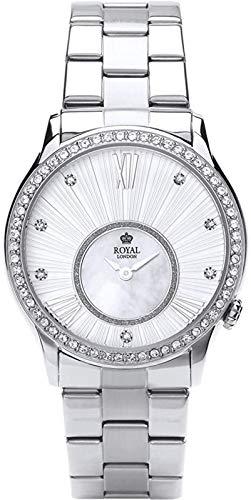 Royal London Ladies Fashion Damen-Armbanduhr analog Silber 21284-06
