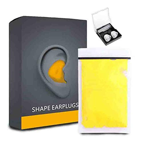 Juyuntong Putty Shaping Earplugs, Custom Moldable Soft Noise Cancelling Ear Plugs - Comfortable Hearing Protection, for Health Care Sleep Quality 60pcs/Box (Yellow)
