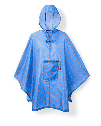 reisenthel mini maxi Damen poncho  Regenmantel, mehrfarbig (azure dots),141 x 116 cm