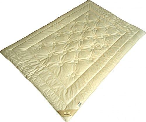 Bettdecke 155 x 220 / 625 g - Extra leichtes Steppbett Garanta mit KBT Merino Füllung und Bio Cotton KBA Bezug - Für den Sommer