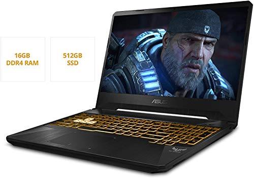"""ASUS TUF Gaming Laptop, 15.6"""" 120Hz FHD IPS-Type, AMD Ryzen 7 3750H, GeForce GTX 1660 Ti, 16GB DDR4, 512GB PCIe SSD, Gigabit Wi-Fi 5, RGB KB, Windows 10 Home, TUF505DU-MB74 (Renewed)"""