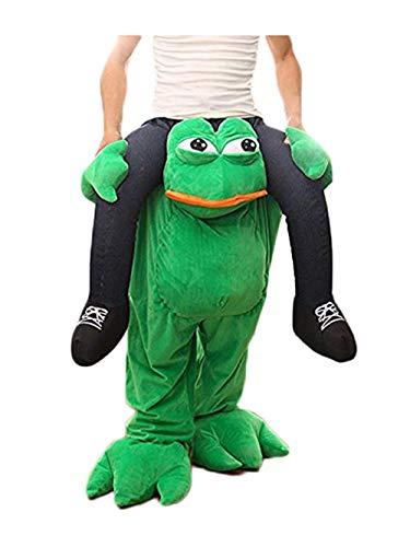 Halloween Carry Mascot Me Ride On Green Frog Oktoberfest Costume Ride on Costume