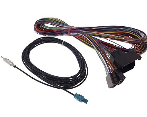 Verlengkabel 5 m Quadlock op ISO antenneadapter Fakra DIN radio adapter aansluiting