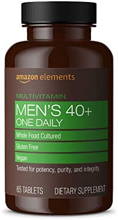 Amazon Elements Men s 40 One Daily Multivitamin 67 Whole Food Cultured Vegan 65 Tablets 2 month product image