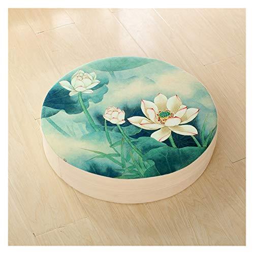 LINMAN Tissu Futon Coussin Épaissir Tatami Bay Fenêtre Coussin Linge de Salon Amovible et Lavable Coussin de Plancher Méditation (Color : B, Specification : 40x40x6cm)