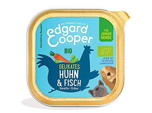 Edgard & Cooper Premium Bio Nassfutter für Welpen - 17 x 100g - Huhn & Fisch - getreidefrei & proteinreich
