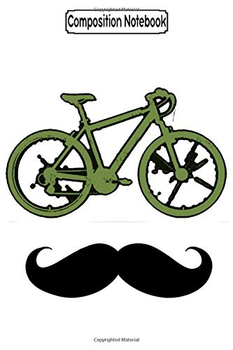 Composition Notebook: Green Bike And Moustache Biker Motorcycles Notebook