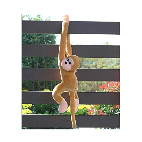 callm 54cm Monkey Toys Plush Toy Cute Screech Monkey Sound Cat Puppy Plush Funny Toys Soft Stuffed Dolls Kids Xmas Gift Soft Dolls Kid Toys for Kids and Adults (Brown)
