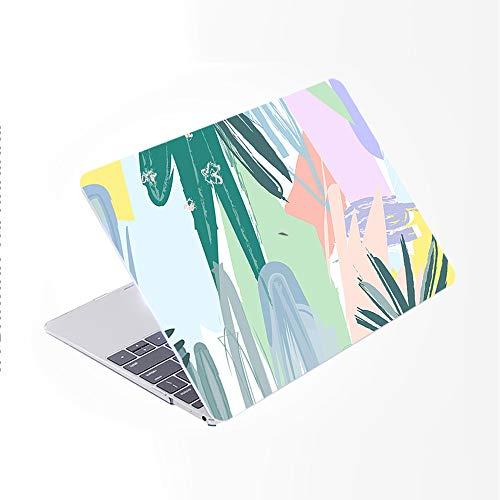 SDH Funda para MacBook Pro de 15 pulgadas 2019 2018 2017 2016 lanzamiento A1990 A1707,piel de teclado degradado compatible con Mac Pro 15 Touch Bar & ID, plantas abstractas 3