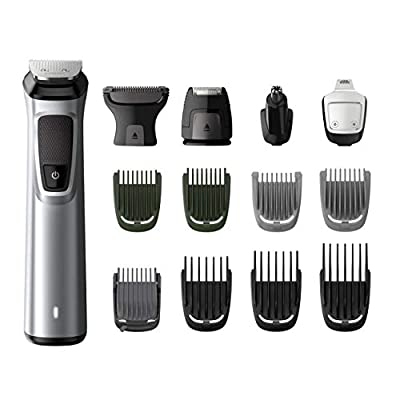 Philips 14-in-1 All-In-One Trimmer, Premium Series 7000 Grooming Kit, Face Shaver, Beard Trimmer, Hair Clipper and Body Groomer with Nose and Ear Trimmer and Precision Shaver - MG7720/13