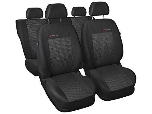 A4 B8 Sitzbezüge nach Maß perfekte Passform Schonbezüge Sitzschoner Velour + Strickpolster ®Auto-schmuck (A4 B8 Sline p3)
