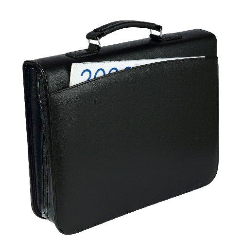 Wedo 583001 Konferenzmappe Orga (4-Ring, mit Tragegriff) schwarz