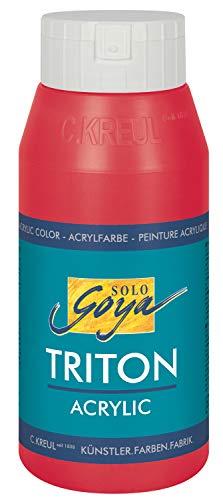 Solo Goya 17015 Colore Acrilico Basic Triton, Bottiglia da 750 ml, Colore Rosso Vino