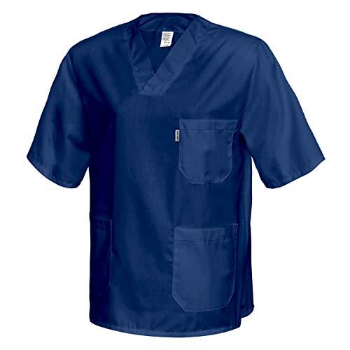 Best Uniform Kasack Schlupfjacke Kleidung Medizin Pflegerkleidung Schwesternkittel Dunkelblau (MED-G) (M)