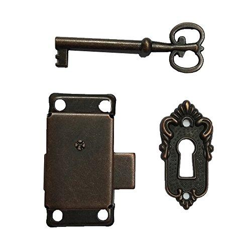 Enbar Bronze Small Gold Plated Taro Cabinet Lock Iron Cabinet Door Locker Cupboard Door Lock Spring Door Lock (Bronze)