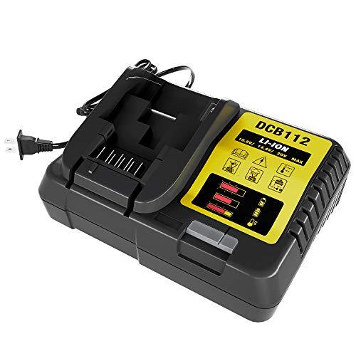 Girapow DCB112 12V 20V MAX Lithium Ion Replacement Battery Charger for DCB206 DCB205 DCB204 DCB203 DCB201 DCB120 DCB127, Replace for DCB107 DCB105 DCB101 DCB115