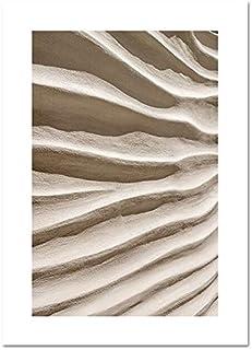 اللوحة والخط - مجرد الرمال الصحراء الخريف زهرة الطبيعة المشهد الشمال قماش طباعة اللوحة جدار الفن المناظر الطبيعية صورة ديك...