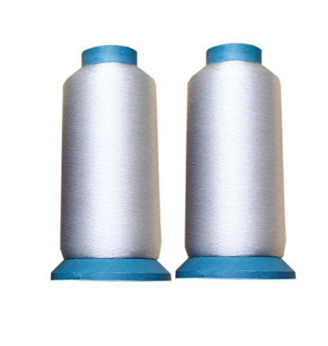 2 Packs 0.1MM 5000 Yards Clear Sewing Threads for Quilting, Wedding Dress, Sequin by UE STORE