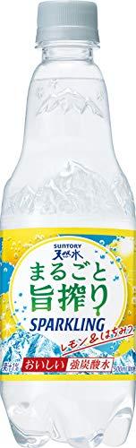 サントリー 天然水 まるごと旨搾り スパークリングレモン 500ml×24本 PET