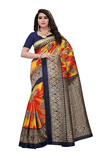 Indische Bollywood Hochzeit Saree indische ethnische Hochzeit Sari neue Kleid Damen lässig Tuch Geburtstag Ernte Top Mädchen Frauen schlicht traditionelle Party Wear Readymade Kostüm (multi 2)