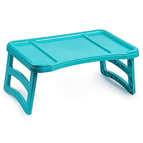 Plastic Forte - Bandeja de cama plegable de plástico 23,5 x 51 x 33 cm. Mesa para desayuno, ordenador portátil con patas plegabl