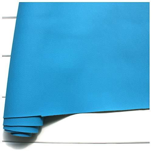 Tela de Cuero Sintético Cuero Sintético 140 Cm de Ancho Tela de Cuero de PU, Cuero de Sofá, Asiento de Cuero Interior de Automóvil (Azul)(Size:1.4 * 3m)
