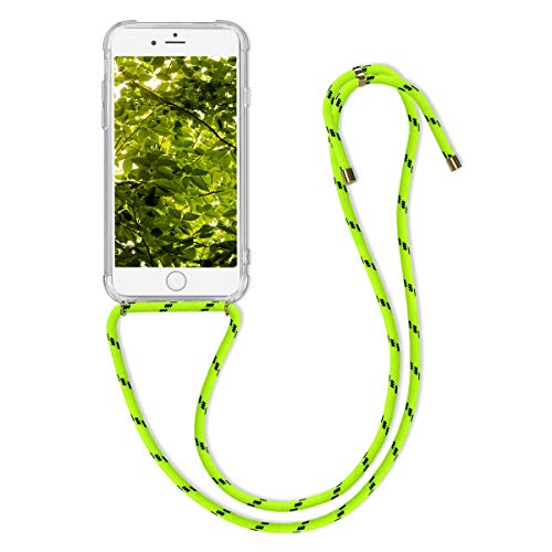 kwmobile Cover a Tracolla Compatibile con Apple iPhone 6 / 6S - Back Case in Silicone Cover con Laccio per Il Collo - Custodia con Cordino