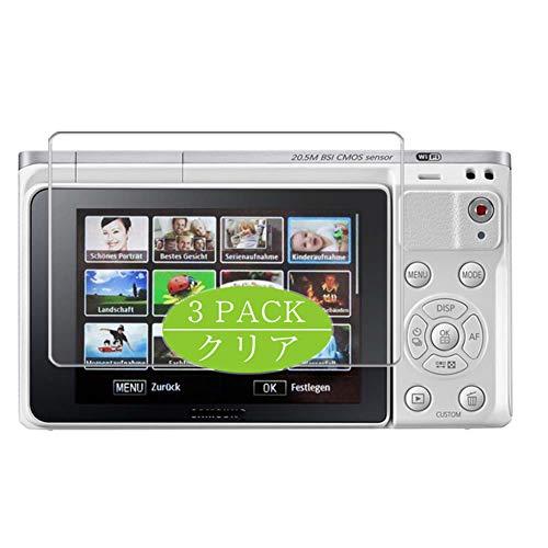 VacFun 3 Piezas HD Claro Protector de Pantalla Compatible con Samsung NX Mini NXF1 Digital Camera, Screen Protector Sin Burbujas Película Protectora (Not Cristal Templado) New Version