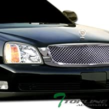 Topline Autopart Chrome Mesh Front Hood Bumper Grill Grille ABS For 00-05 Cadillac Deville