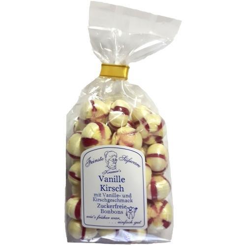 Zuckerfreie Vanille-Kirsch Bonbons, 120g