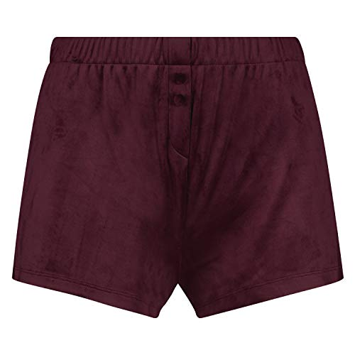HUNKEMÖLLER Damen Samt-Shorts mit elastischer Taille Rot S
